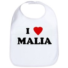 I Love MALIA Bib