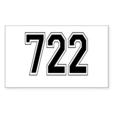 722 Rectangle Decal