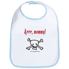Arr, mommy! baby pirate Bib