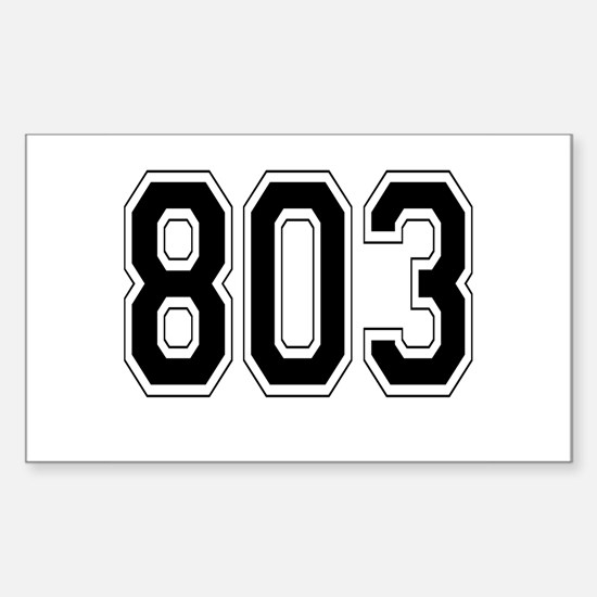 803 Rectangle Decal
