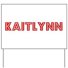 Retro Kaitlynn (Red) Yard Sign
