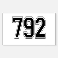 792 Rectangle Decal