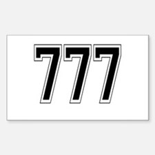777 Rectangle Decal