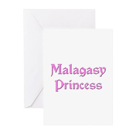 Malagasy Princess Greeting Cards (Pk of 10)