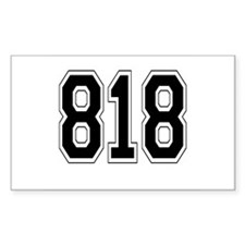 818 Rectangle Decal