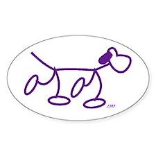 Stick Figure Doggie Oval Decal