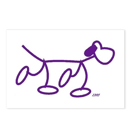 Stick Figure Doggie Postcards (Package of 8)