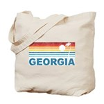 Retro Palm Tree Georgia Tote Bag