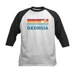 Retro Palm Tree Georgia Kids Baseball Jersey