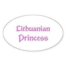 Lithuanian Princess Oval Decal