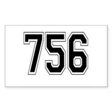 756 Rectangle Decal