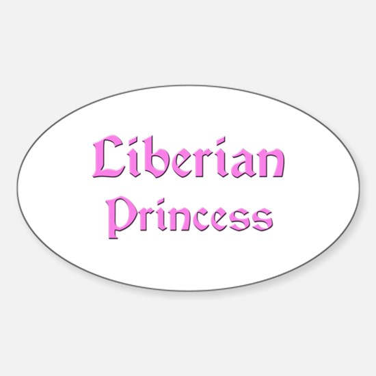 Liberian Princess Oval Decal
