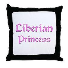 Liberian Princess Throw Pillow