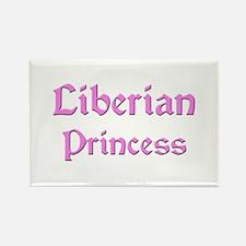 Liberian Princess Rectangle Magnet