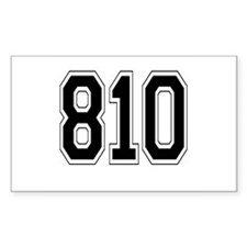 810 Rectangle Decal