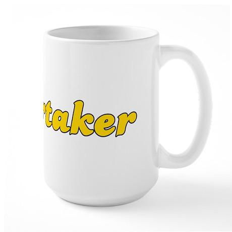 Retro Undertaker (Gold) Large Mug
