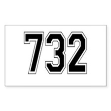 732 Rectangle Decal