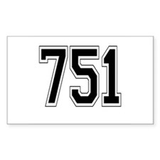 751 Rectangle Decal