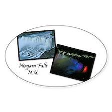 Summertime Niagara Falls Oval Decal