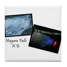 Summertime Niagara Falls Tile Coaster