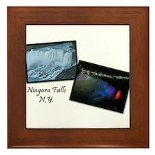 Summertime Niagara Falls Framed Tile
