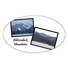 Wintertime Adirondacks Oval Decal