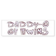 Daddy-O of Twins Bumper Bumper Sticker