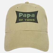 Papa of Twins Baseball Baseball Cap