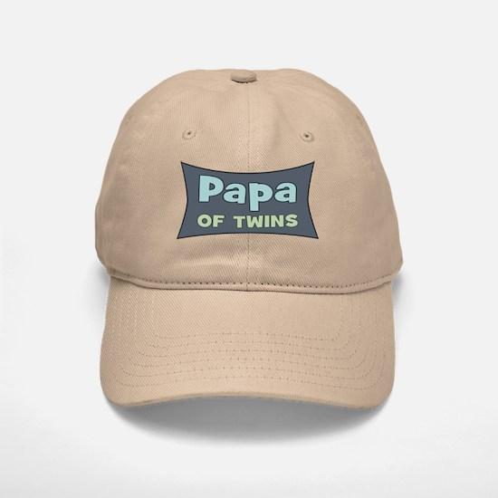 Papa of Twins Baseball Baseball Cap