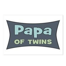 Papa of Twins Postcards (Package of 8)