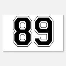 89 Rectangle Decal