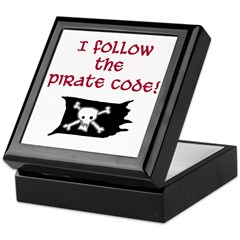 Pirate code caribbean Keepsake Box