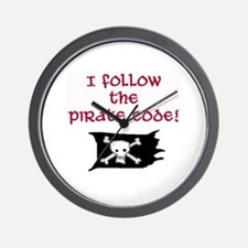 Pirate code caribbean Wall Clock