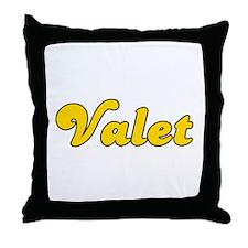 Retro Valet (Gold) Throw Pillow