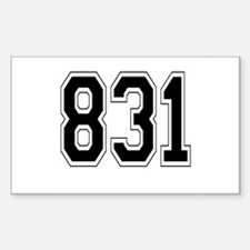831 Rectangle Decal