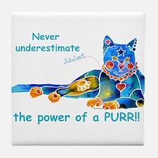 Purr Kitty Tile Coaster