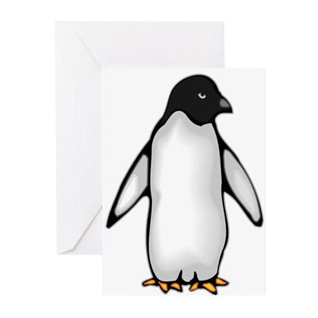 happy penguin Greeting Cards (Pk of 20)