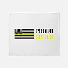 U.S. Flag Yellow Line: Proud Sister Throw Blanket