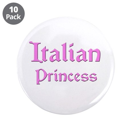 "Italian Princess 3.5"" Button (10 pack)"