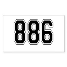 886 Rectangle Decal