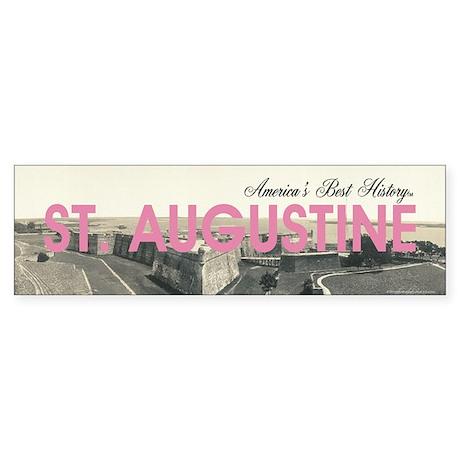 St. Augustine Americasbesthistory Sticker (Bumper)