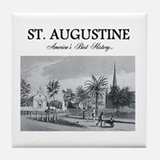 St. Augustine Americasbesthistory.com Tile Coaster