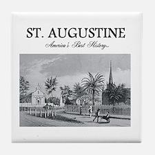 St. Augustine Americasbesthistory.com Tile Coaster