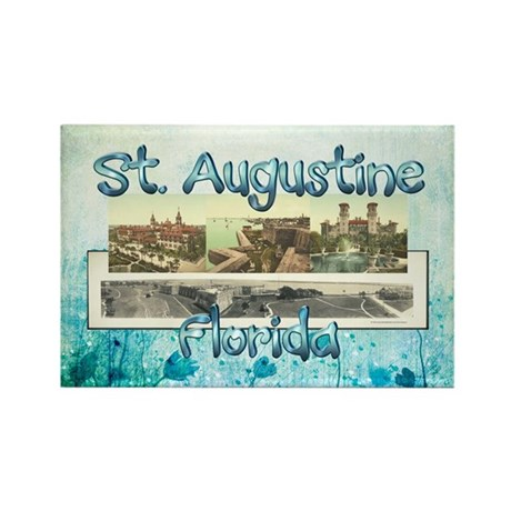 St. Augustine Americas Rectangle Magnet (100 pack)