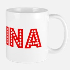 Retro Karina (Red) Mug