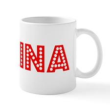 Retro Karina (Red) Small Mugs
