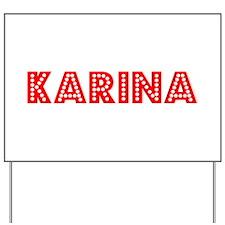 Retro Karina (Red) Yard Sign