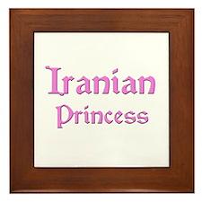 Iranian Princess Framed Tile