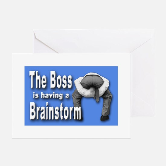 Bad Boss Brainstorm Greeting Cards