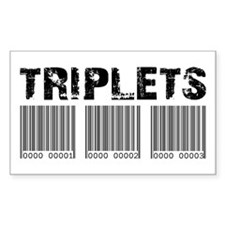 Triplets Barcodes Rectangle Decal
